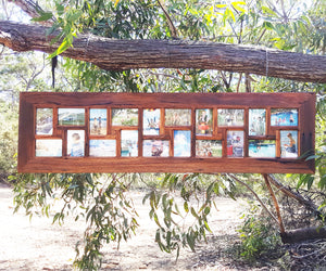 Eco Friendly 20 opening Recycled Timber Multi opening Family Collage Photo Frame Australia