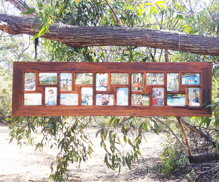 Recycled Timber Family Multi Photo Collage Frame made in Australia