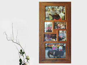 Eco Friendly Multi Photo Frame with 6 openings made with Recycled Timber Australia