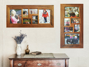 Eco Friendly Wooden Photo Collage Frames for 6 Pictures, handcrafted in Australia