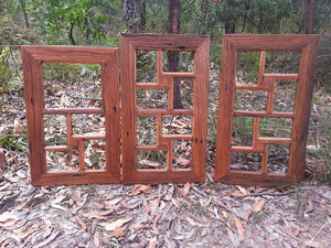 Brown Gum 8 opening Ready Made Multi Picture Frame in Eco Friendly Australian Recycled Timber