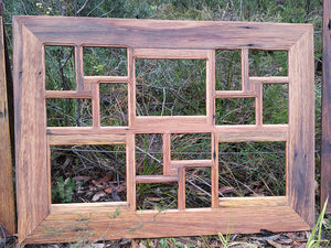 Eco Friendly Recycled Brown gum Picture Frame for 15 Photographs-made-in-Australia