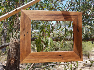 Single A4 handmade recycled timber picture frames Australia