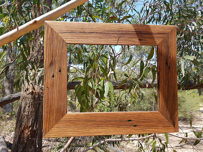 A4 Single Recycled Timber Photo Frame In Australian Brown