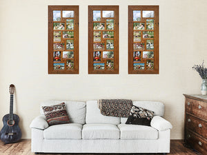 Eco friendly Recycled Timber 12 opening Multi Family Photo Frames made in Australia