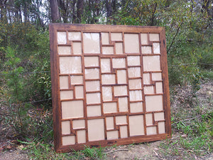 Huge Recycled Timber Multi Size Photo Collage Frame, Custom Picture Framing Autralia in Recycled Timber