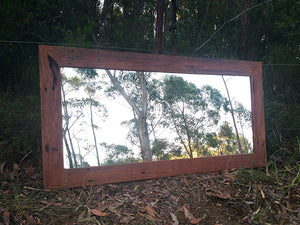 Handcrafted Australian Redgum-Feature-Mirror-made-using-Eco-Friendly-Recycled-Timber