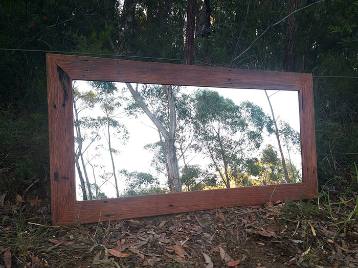 Eco Friendly Handcrafted Australian Redgum Feature Mirror