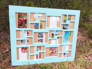 Vintage Blue Multi Picture Frame Australia made with Eco Friendly Recycled Timber