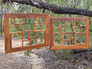 Eco Friendly  Multi Photo frame for 15 pictures Handmade to order Recycled Timber Frames Australia
