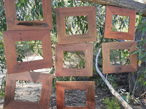 Authentic Australian Recycled Timber Red Gum Picture Frames in All Sizes