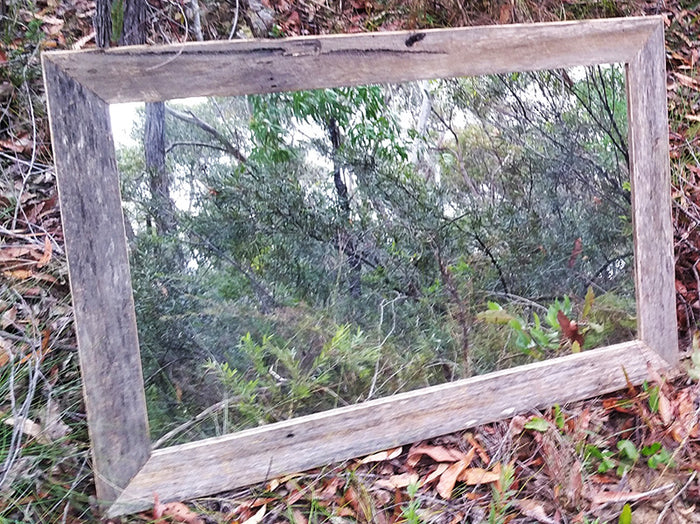 Rustic Feature Mirror made using Australian Eco Friendly Recycled Timber