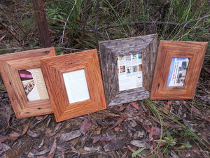 Hand made  wooden picture frames Australia out of locally sourced Recycled Timber