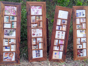 Unique Photo Frames handmade to order using Recycled Australian Timber for 11 photographs