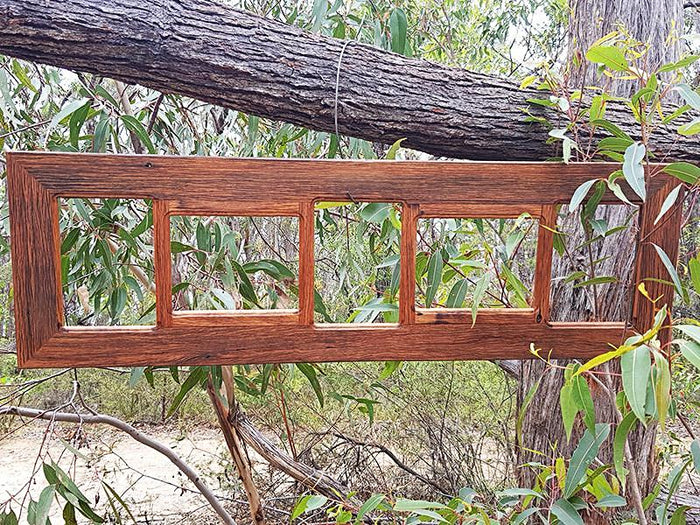 Recycled Timber Photo frame with 5 opening slots