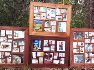 Gorgeous 15 opening multi photo frames in Australian recycled timber
