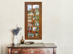12 opening multi collage family photo frame  wedding photo frames Australia in Recycled Timber