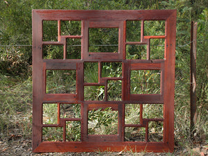 Square Red Gum Recycled Australian Timber Large multi photo frame Australia