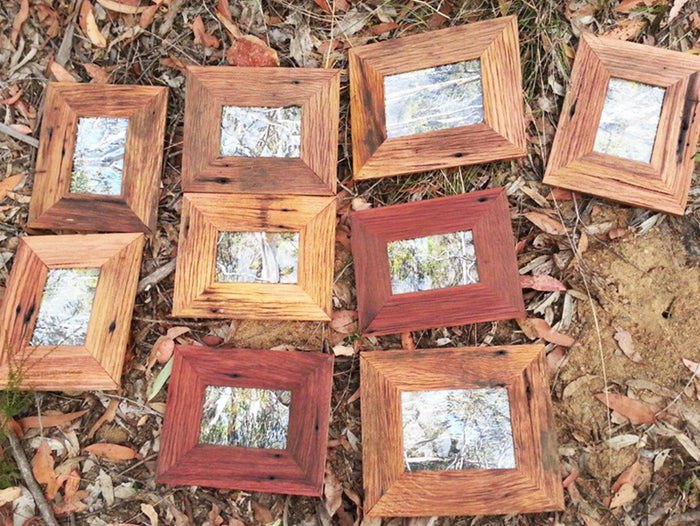 Rustic Timber Photo Frame Made in Australia using Recycled Hardwood