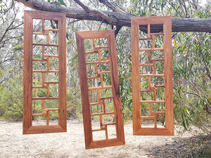 12 opening Recycled timber multi picture frames made in Australia using Brown Gum