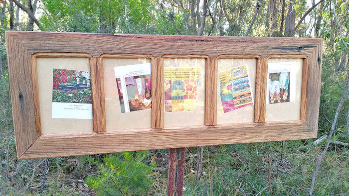 Rustic Timber Picture Frame for 5 Photos