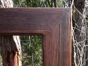 Salvaged Red Gum Frame look for Wombat Frames Custom made Picture Frames and Mirrors