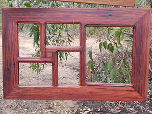 Eco Friendly Recycled Redgum 5 opening multi size collage picture frames Australia