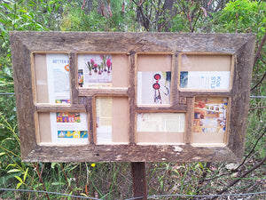 Rustic Grey Fence Look Multi Photo Collage Frame made using Australian Eco Friendly Recycled Timber
