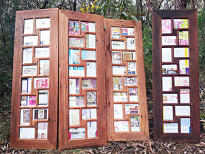 12 Opening Australian Recycled Timber multi Photo Frames in Brown Gum and Red Gum