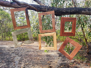 A4 size Brown gum Picture Frames made with Authentic Australian Eco Friendly Recycled Timber