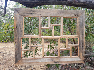 Rustic Multi Picture Frame made in Eco Friendly Australian Timber