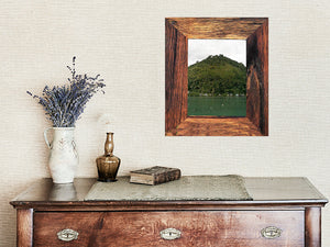 Recycled Rustic Timber Photo Frame Made in Australia using Recycled Grainy Hardwood