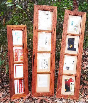 Recycled Timber Red or Brown Gum frames for 4 photos Australian made