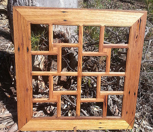 Square Multi Photo frames Australia  recycled timber and holds 12 photographs