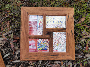 Square multi picture frames in Recycled Eco Friendly Australian Timber