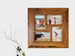 Square multi photo frame made in Recycled Australian Timber