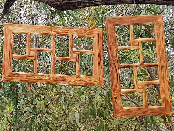 Wooden Multi Photo Collage Photo Frame made in Australia for 8 photos.
