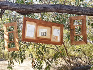 Authentic Australian Eco Friendly Repurposed Timber Family Collage Frame for 3 pictures