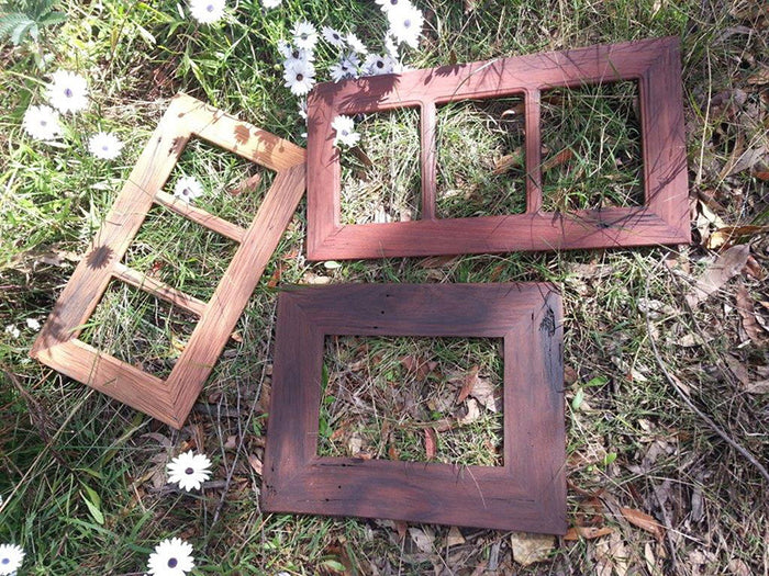 3 Opening Recycled Timber Brown Gum Family Photo Frame