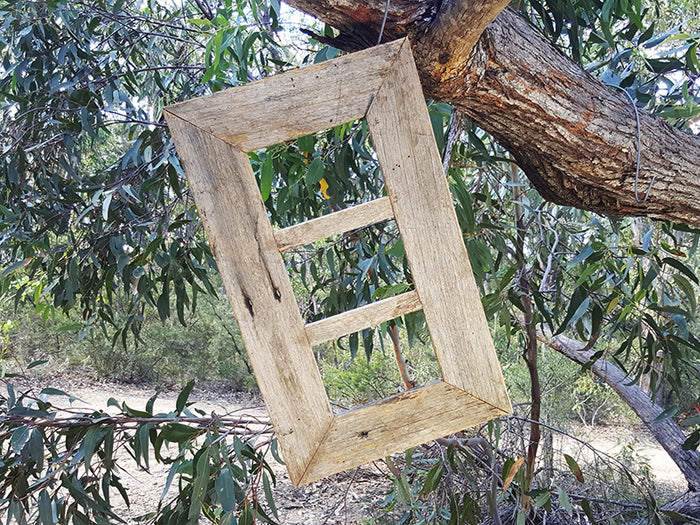 Weathered Rustic Grey Recycled Timber 3 opening Multi Picture Frame