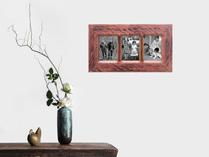 3 opening Wooden Multi Photo Frame Online in Authentic Recycled Australian Timbers