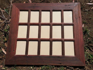 Hand made Picture Frame for 15 photos using Australian Eco Friendly Timber Red gum