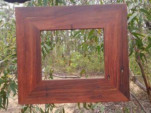 Gorgeous Red Gum single photo frame in any size custom made at Wombat Frames