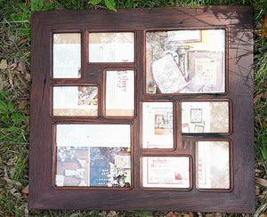 Upcycled Wooden Photo Frames Australia, a Multi opening photo Frame, Handmade in Australia