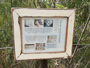 Vintage White Salvaged Timber Picture Frame made with old Architrave in Australia