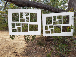 Vintage White Shabby Chic 12 opening Multi Collage Wedding Picture Frame made with Authentic Recycled Timber in Australia