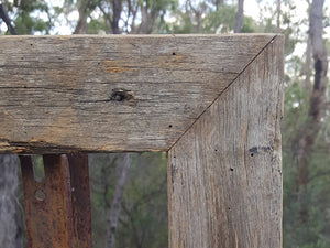 Rustic Grey Fence look handcrafted Recycled Timber Picture Frames Australia