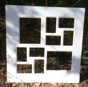 White family photo collage frames Recycled timber Australia