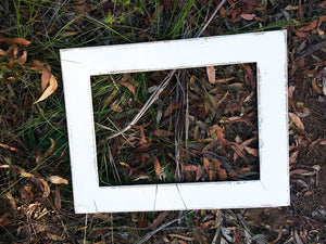 White Photo Frames made in many sizes made with Eco friendly recycled timbers