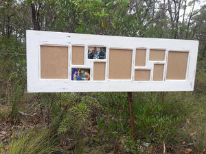White personalised photo frames Australia made using Recycled Timbers